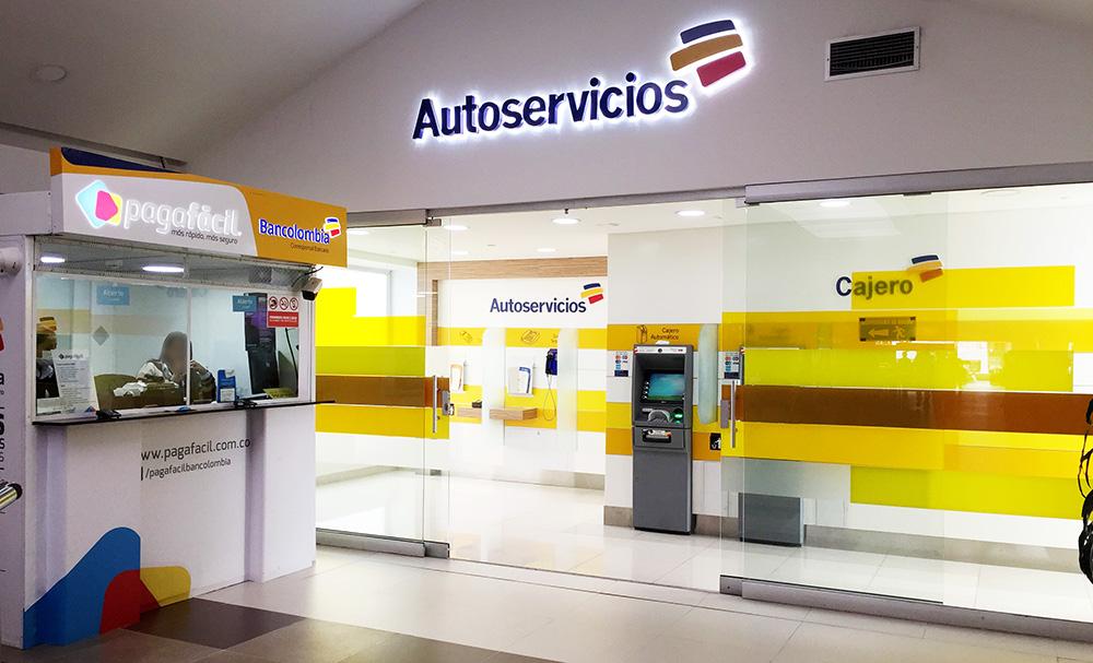 autoservicios bancolombia centro comercial portoalegre